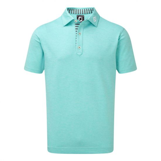 FOOTJOY - Polo Stretch Piqué 90049E9 Aqua Homme