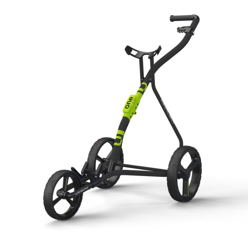 WISHBONE - Chariot One Anthracite/Lime/Noir (3 roues)