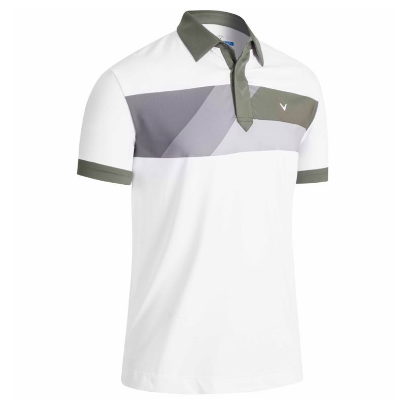 CALLAWAY - Polo Gradient Color Block CGKSB094 Blanc/100 Homme