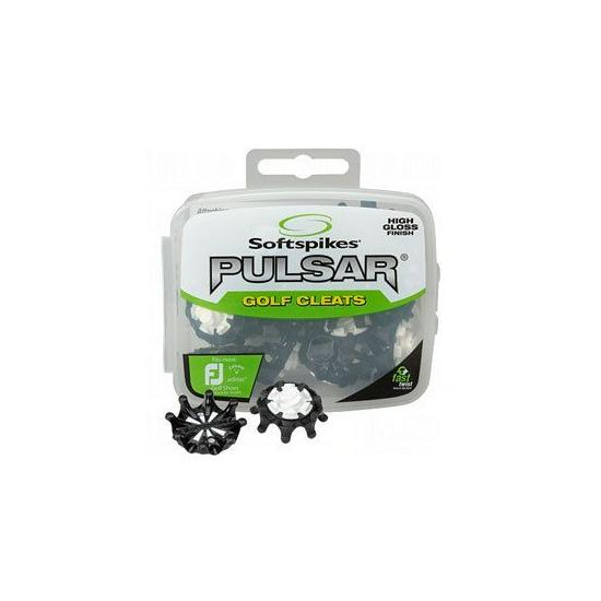 "SOFTSPIKES - 16 Crampons PULSAR ""Fixation Fast Twist"" (Noir et Blanc)"
