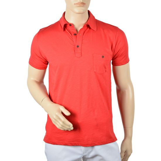 CHICAMA - Polo POL83 Rouge E15 Homme