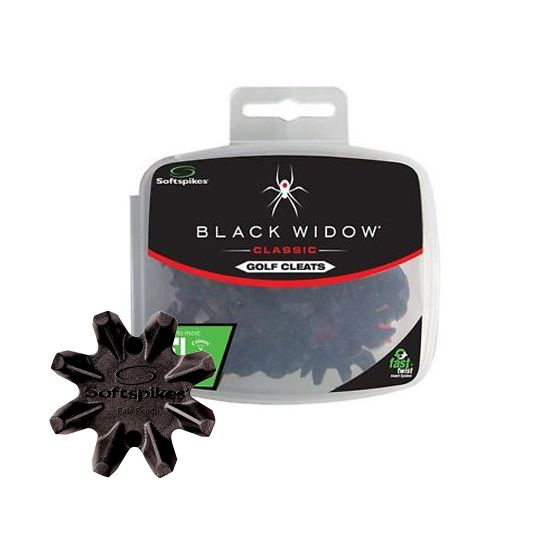 "SOFTSPIKES - 16 Crampons Black Widow ""Fixation Fast Twist"""