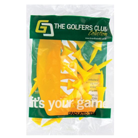 THE GOLFERS CLUB - 20 Tees etage Plastique Jaune 25mm