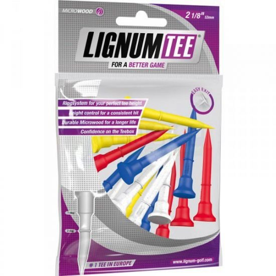 LIGNUM - 12 Tees gradués 2 1/8 (53mm) Multicolore