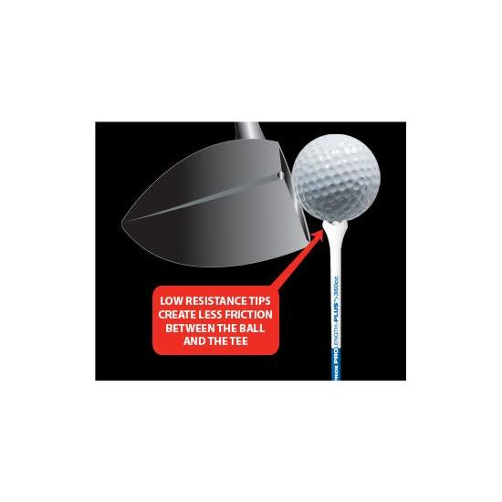 PRIDE GOLF TEE - 25 Tees 2 1/8 PRO Rouge (54mm)
