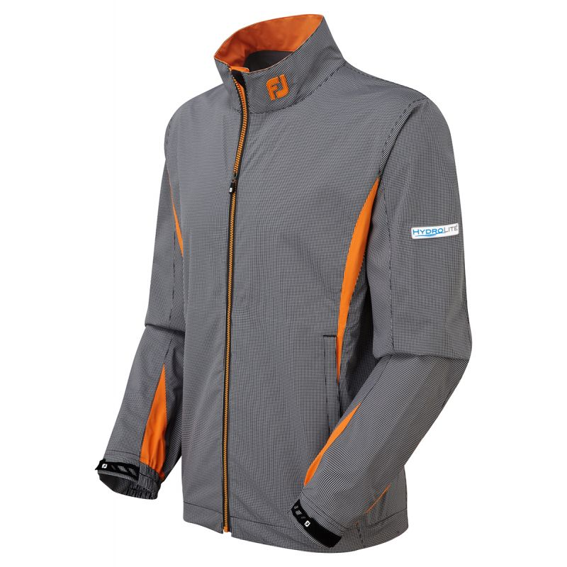 footjoy veste de pluie fj hydrolite 95595 gris orange homme achat prix golf des marques. Black Bedroom Furniture Sets. Home Design Ideas