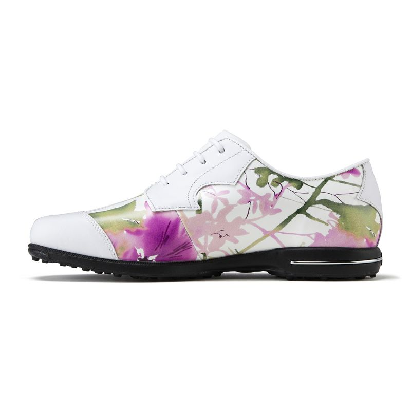 footjoy chaussures de golf tailored collection 91692 blanc floral femme achat prix golf. Black Bedroom Furniture Sets. Home Design Ideas