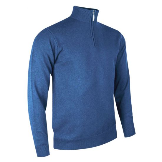 GLENMUIR - Pull 1/4 Zip Samuel MKP7410 Light Blue H17 Homme