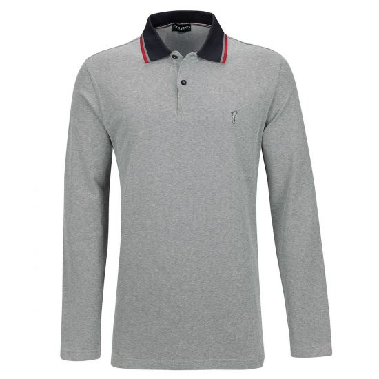 GOLFINO - Polo ML Dauville Stretch 3339716 Gris/805 H18 Homme